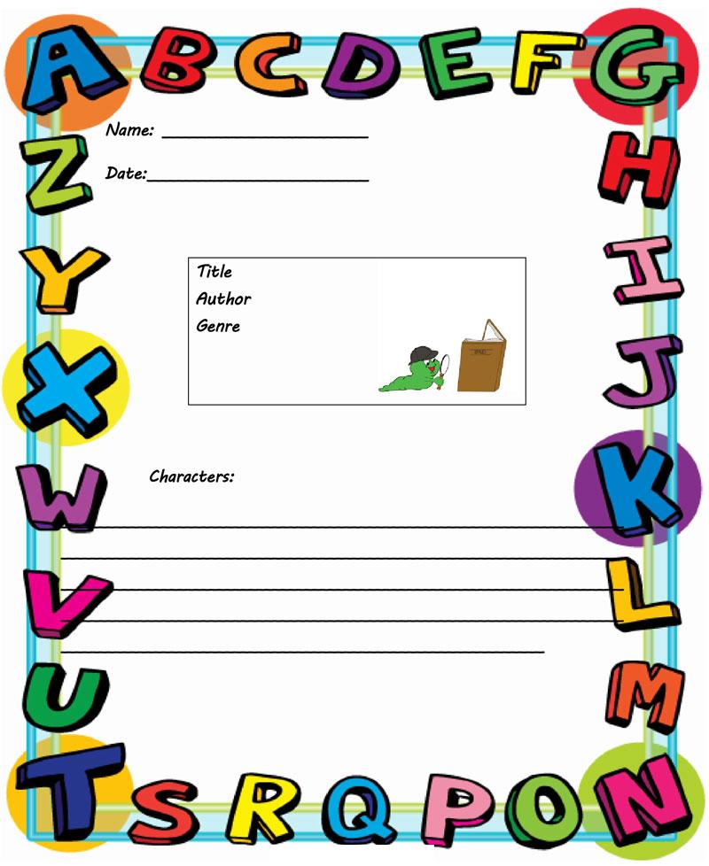 book report template 4th grade