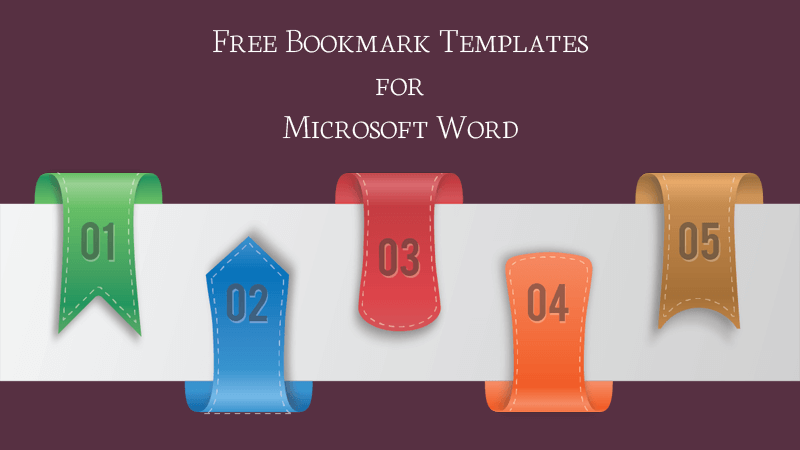 Bookmark Templates - Free Printable for Microsoft Word