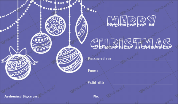 Christmas Gift Certificate Template 33 Word Layouts