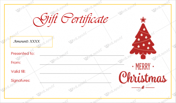 Christmas gift certificate template 38 word layouts christmas gift certificate template 38 yelopaper Image collections