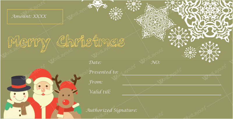 Christmas gift certificate template 29 word layouts christmas gift certificate template 29 yadclub Gallery