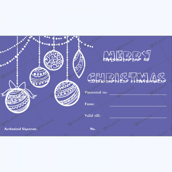 Christmas Gift Certificate Template 33 - Word Layouts
