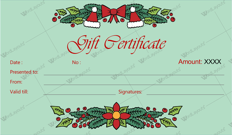 picture about Free Printable Christmas Gift Certificates named Xmas Reward Certification Template 30