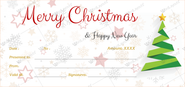 Christmas Gift Certificate Template 39 Word Layouts