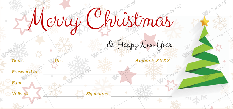 Christmas gift certificate template 39 word layouts christmas gift certificate template 39 yadclub Gallery