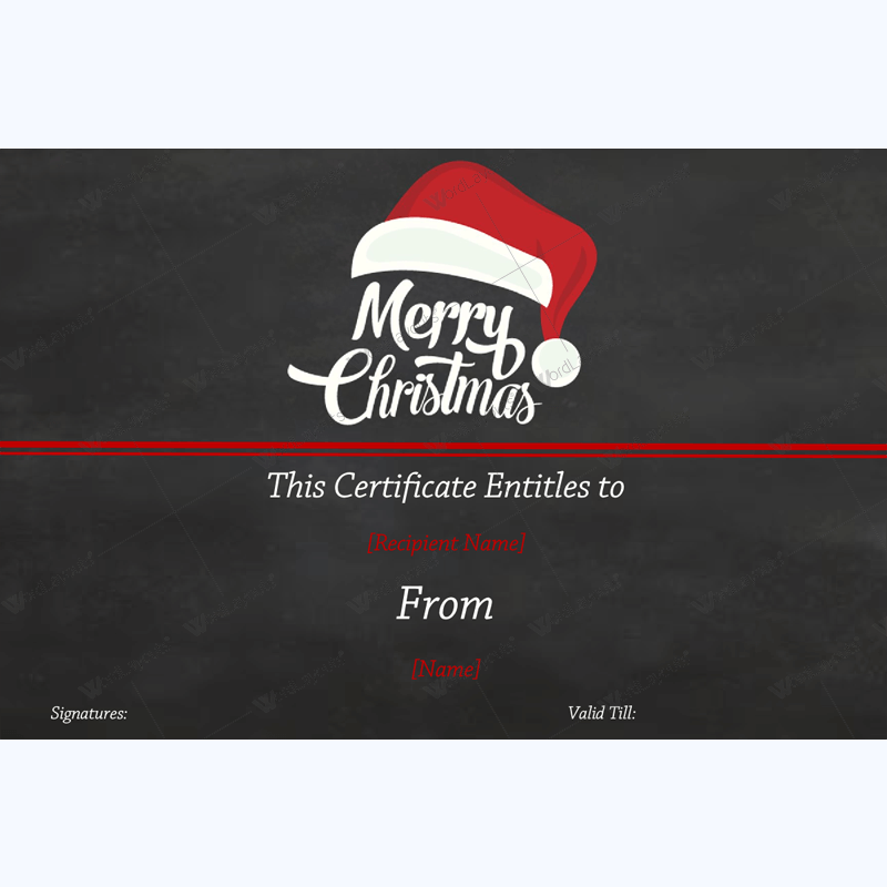 Christmas Gift Certificate Template 35