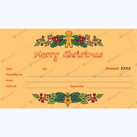 Printable Gift Certificate Templates Word Layouts – Christmas Certificates Templates for Word