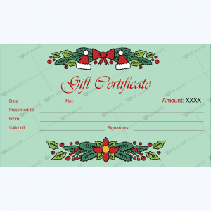 christmas gift certificate template 30