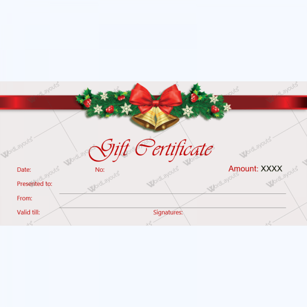 Christmas Gift Certificate Template 36 Word Layouts