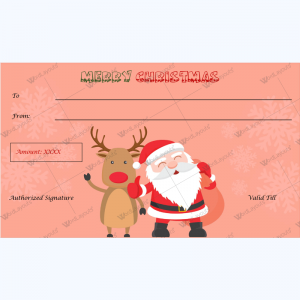 Printable christmas gift certificate featuring santa word layouts christmas gift certificate template 31 yelopaper Choice Image