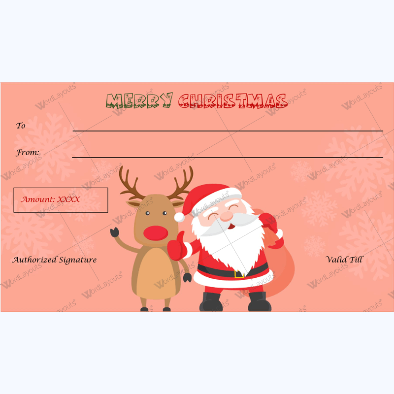 Christmas Gift Certificate Template 31 Word Layouts