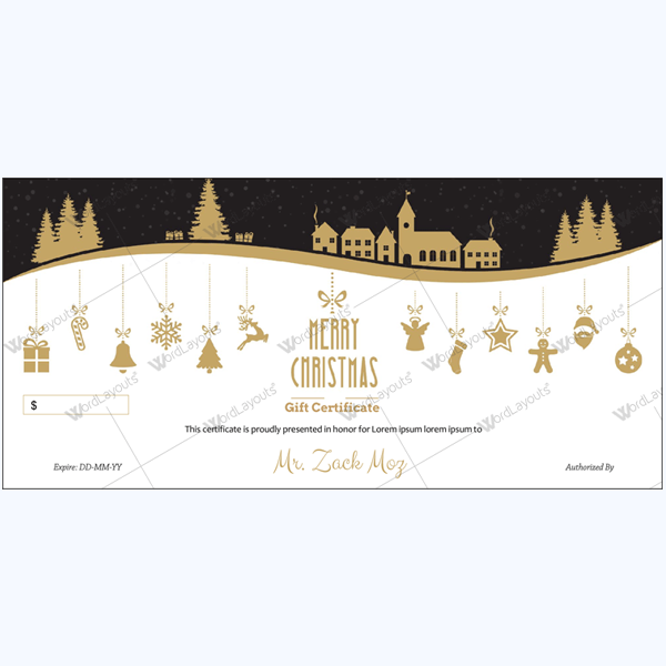 Christmas Certificate (Hill Night)