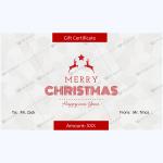 Christmas Certificate (Reindeer & Star)