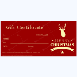 Christmas Gift Certificate (Classic Reindeer)