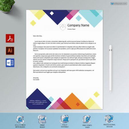 Printable Professional Letterhead Format