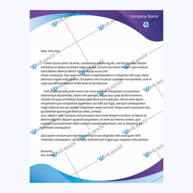 Sample of letterhead