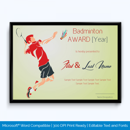 Sports Award Certificate Templates