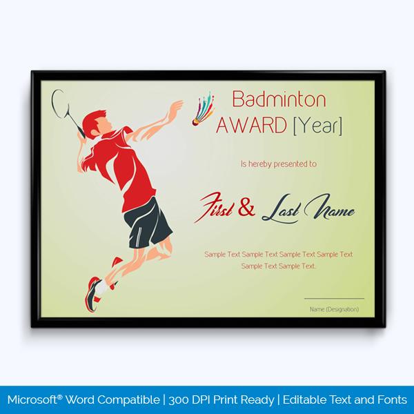 Sports Award Certificate Templates