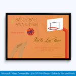 School Sports Certificate Format In Word
