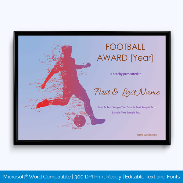 Sports Certificate Content