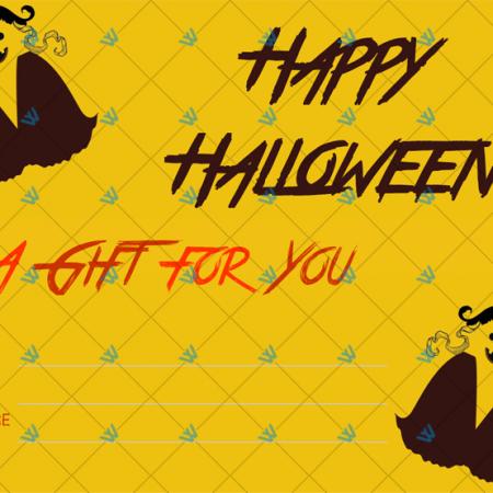 Ghost Costume Halloween Gift Certificate