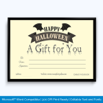 Free Printable Halloween Gift Certificate