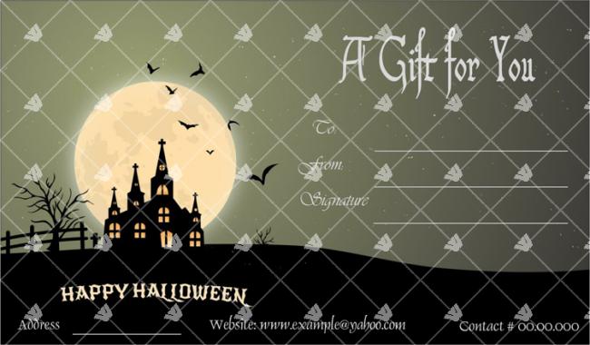 Halloween Card Sample
