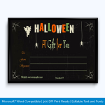Editable Halloween Gift Certificate