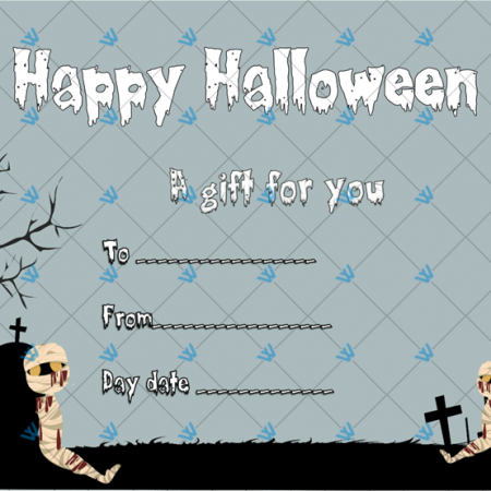 Halloween Gift Certificate Template Sample