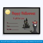 Halloween Gift Certificate Free