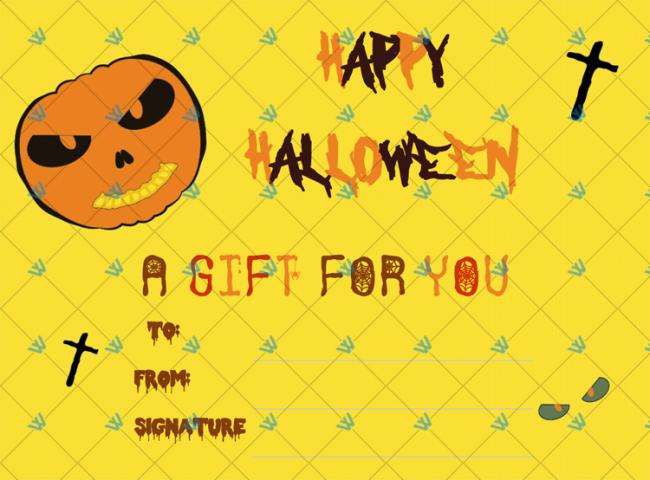 Halloween Gift Certificate