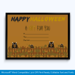 Printable Halloween Gift Certificate Template