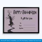 Printable Halloween Gift Certificate