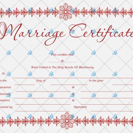 Wedding Certificates