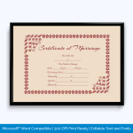 Fancy Marriage Certificate