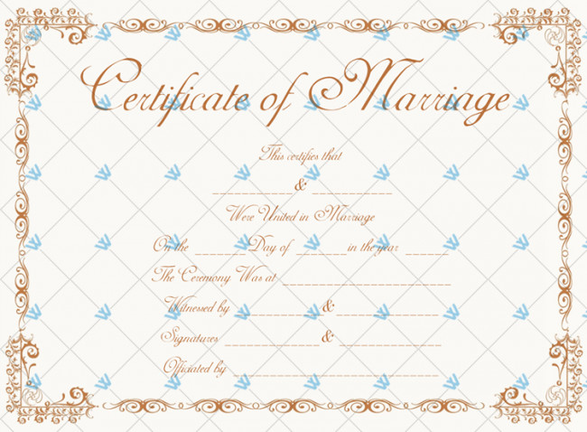 Wedding Certificate Template Free Download