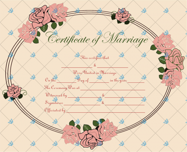 Marriage Certificate Sample