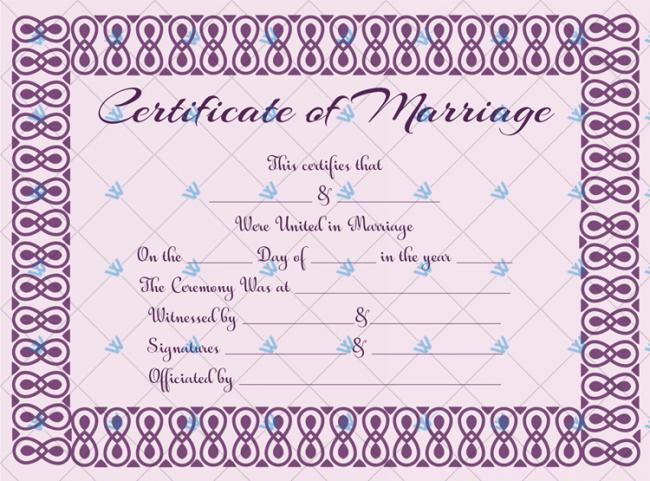 Church Wedding Certificate Template