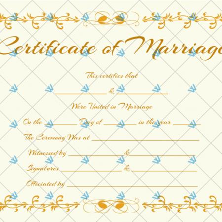 Keepsake Marriage Certificate Template