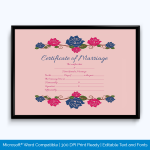Marriage Gift Certificate Sample