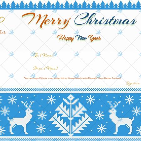 Printable Christmas Gift Certificate