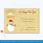 Christmas Gift Certificate Free