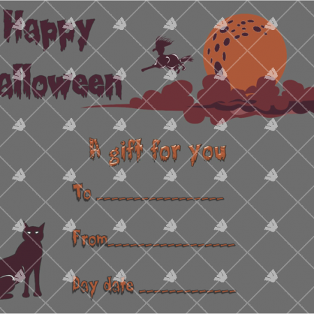 Halloween Gift Certificate Sample