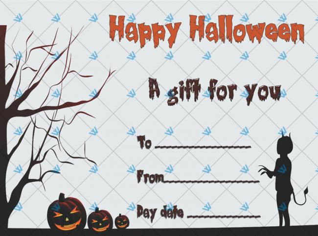 Halloween Gift Certificate Example
