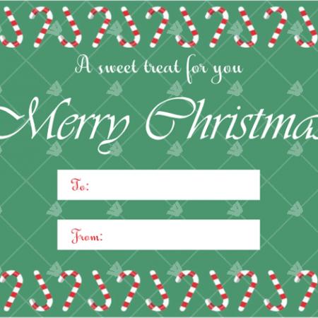 Editable Christmas Gift Tag Template Candies