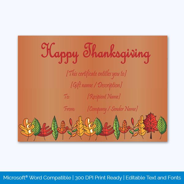 Thanksgiving-Gift-Certificate-Template-(Brown,-#5603)-pr