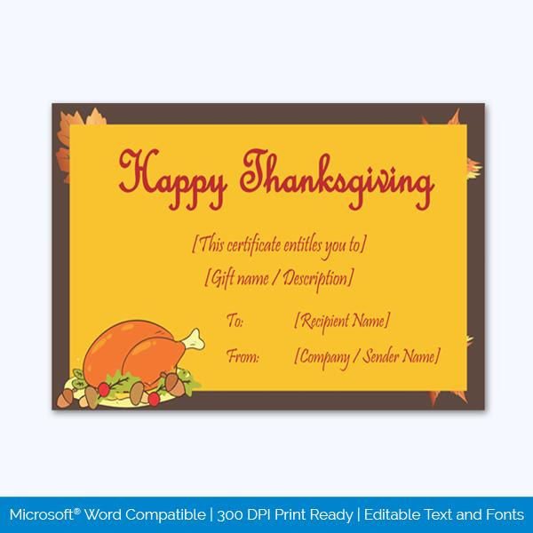 Thanksgiving-Gift-Certificate-Template-(Chicken,-#5604)-pr