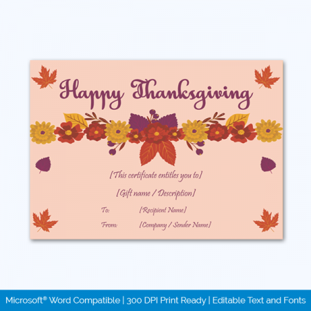 Thanksgiving-Gift-Certificate-Template-(Floral,-#5618)-pr
