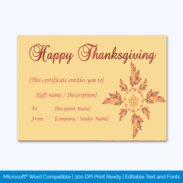 Thanksgiving-Gift-Certificate-Template-(Flower,-#5594)-pr