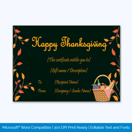 Thanksgiving-Gift-Certificate-Template-(Picnic,-#5606)-pr